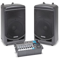Samson Expedition XP1000 Portable PA w/ Bluetooth Includes 2 Speakers/Mixer
