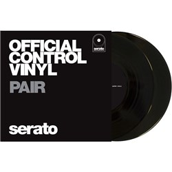 "Serato 7"" Performance Vinyl: PAIR Plain Black"