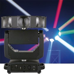 Showtec Astro 360 XL RGBW LED Moving Head (8 x 12W RGBW) Continuous Pan & Rotation