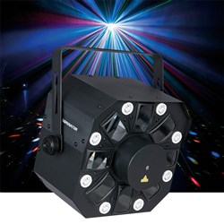 Showtec Dominator 3 in 1 Light (LED, Strobe & Laser) Effect