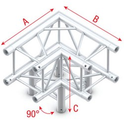 Showtec Pro-30 Box Truss 90° 3-Way Corner (Same as Global, Euro, TrussT Truss)
