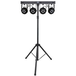 Showtec Compact Power Lightset 4 (7 x RGBW) Power Spots with Stand and Bag