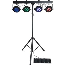 Showtec Compact Power Lightset MKII (7 x RGB) Power Spots with Stand, Bag and Footswitch