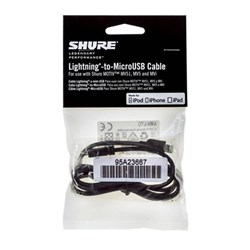 Shure AMV LTG Lightning-to-MicroUSB Cable (1m)