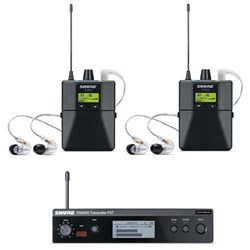 Shure PSM300 Twin Wireless System w/ SE215-CL Earphones J10
