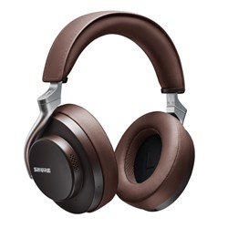 Shure Aonic 50 Wireless Noise Cancelling Headphones w/ Studio Quality Sound (Brown)