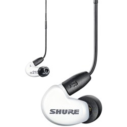 Shure SE215+ Sound Isolating Earphones w/ Universal Cable (White)