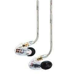 Shure SE315 Sound Isolating Earphones (Clear)