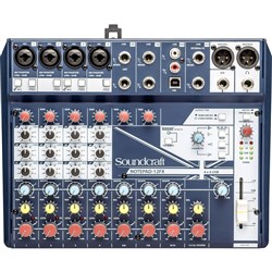 Soundcraft Notepad 12FX Small Format Analog Mixing Console w/ USB I/O & Lexicon Effects