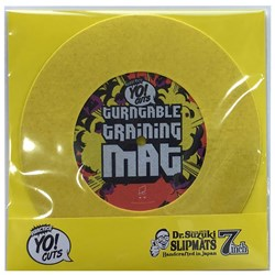 "Dr Suzuki 7"" Turntable Training Mat (Yellow)"