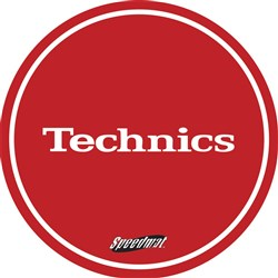 Technics Speedmat Red Slipmats (Pair)