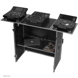 UDG Ultimate Fold Out DJ Table w/ Wheels (Silver)
