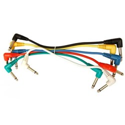 UXL PJ-03R Patch 6pk Cable w/ right angle plugs - 1-foot