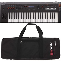 Yamaha MX49 BK MK2 Synthesiser w/ FREE Gig Bag (Black)