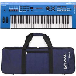 Yamaha MX49 BU MK2 Synthesiser w/ FREE Gig Bag (Blue)