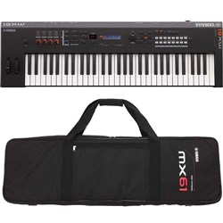 Yamaha MX61 BK MK2 Synthesiser w/ FREE Gig Bag (Black)