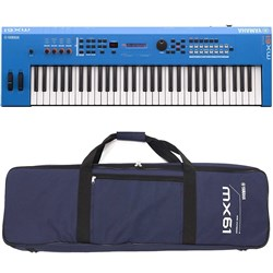 Yamaha MX61 BU MK2 Synthesiser w/ FREE Gig Bag (Blue)