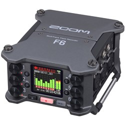 Zoom F6 Multi-Track Field Recorder w/ 32-Bit Float Recording