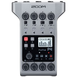 Zoom P4 Podtrak Podcast Recorder w/ 4 Mic Inputs & 4 Headphone Outputs