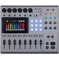 Zoom P8 Podtrak Podcast Recorder w/ 6 Mic Inputs & 6 Headphone Outputs