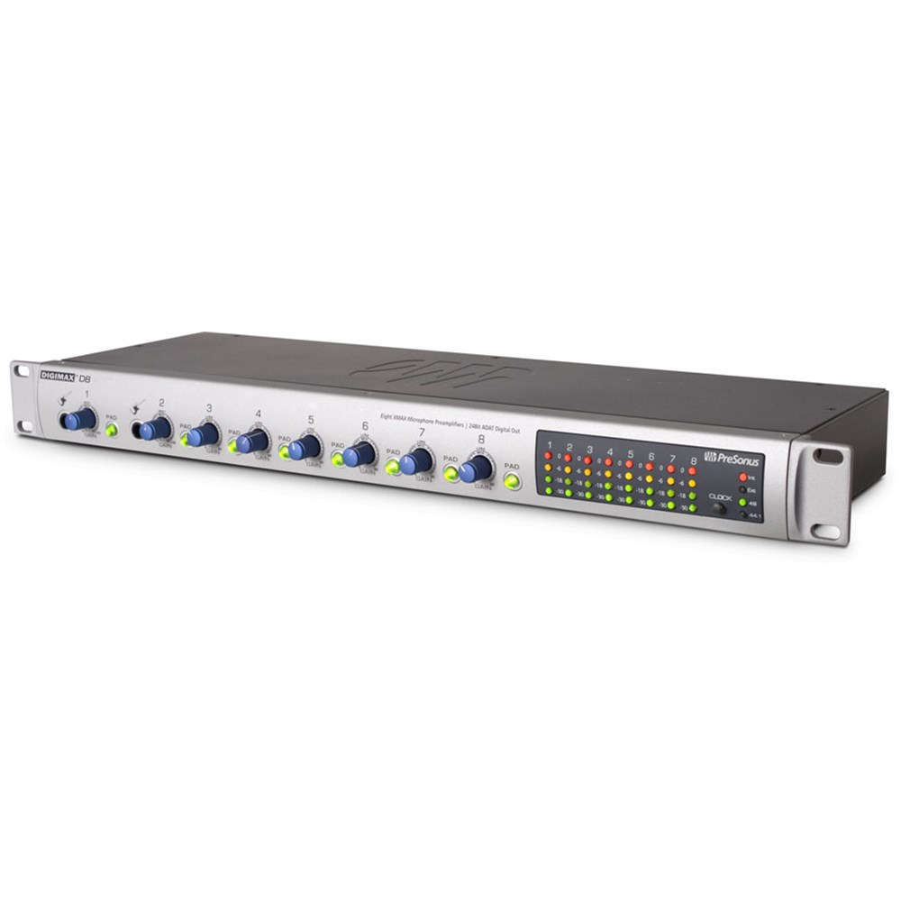 PreSonus DigiMax D8 8 Channel Mic Pre w/ Digital Output