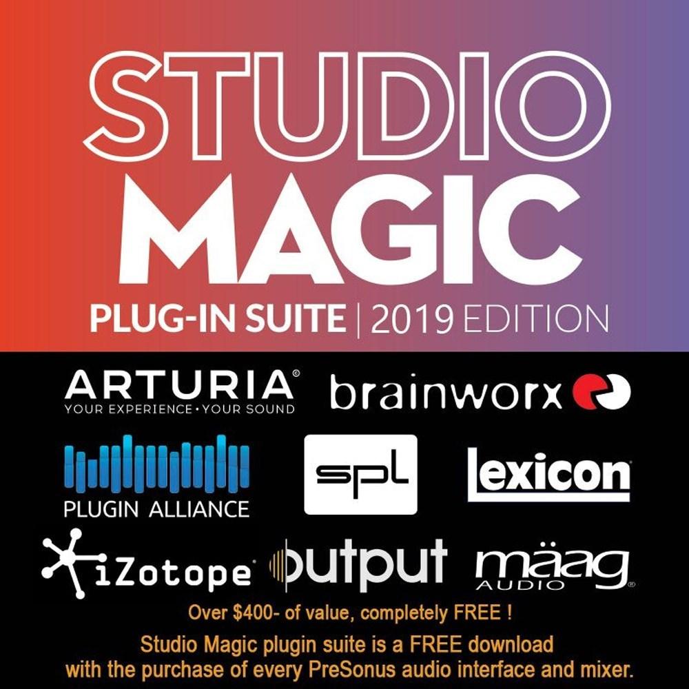 PreSonus Studio 2|6 2x4 USB Audio/MIDI Interface w/ Studio One Artist DAW &  Studio Magic