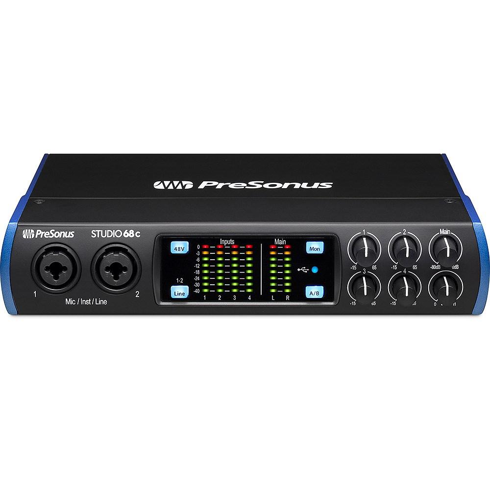 PreSonus Studio 68c 6x6 192kHz USB-C Audio Interface w/ Studio One Artist  DAW