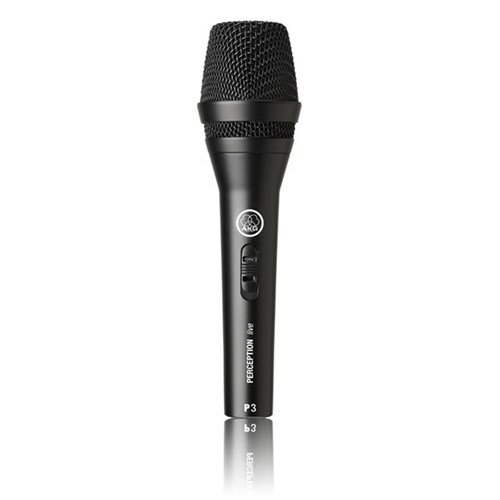 akg p3s vocal dynamic microphone w on off switch dynamic microphones store dj. Black Bedroom Furniture Sets. Home Design Ideas