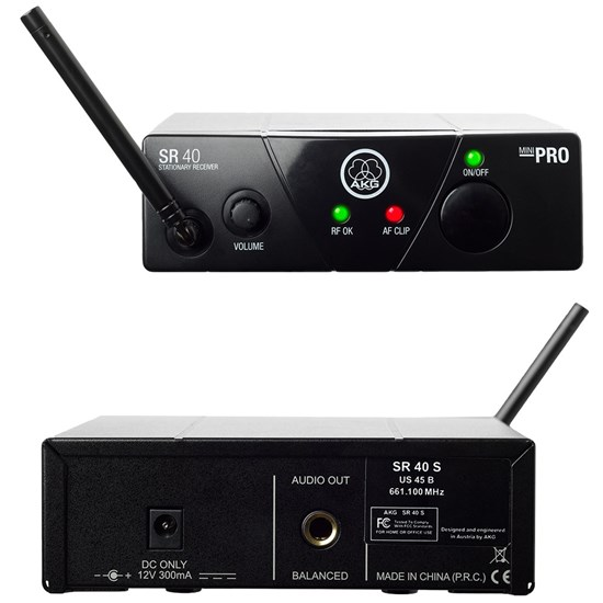 AKG WMS40 Vocal/Instrument Dual Wireless System Band US25B/D (537.900/540.400MHz)