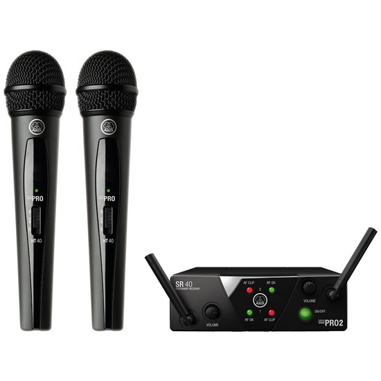 AKG WMS40 Dual Handheld Wireless Mic System Band US25A/C  (537 500/539 300MHz)