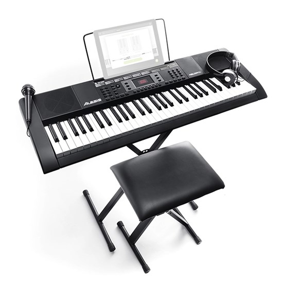 Alesis Melody 61 MKII 61-Key Portable Keyboard w/ Built-In Speakers & Accessories
