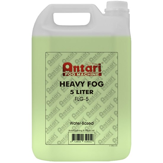 Antari Heavy Duty Smoke / Fog Fluid 5 Litre (Green Fluid)