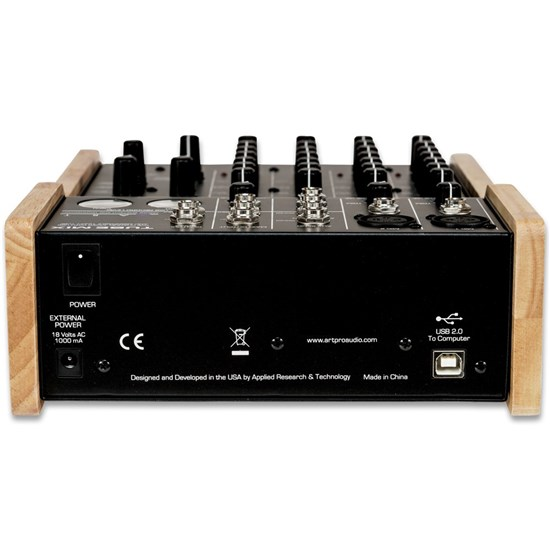 ART Pro Audio TubeMix Fully Featured Tube Driven 5-Channel Stereo USB Mixer