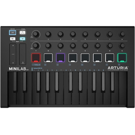 Arturia MiniLab MkII 25-Key MIDI Controller / Soft Synth (Limited Edition Deep Black)