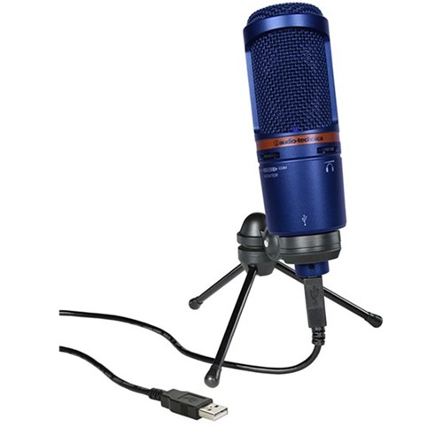 Audio Technica AT2020USB+ USB Condenser Microphone (Limited Edition Blue)