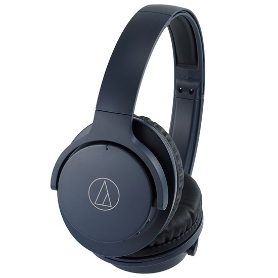 Audio Technica ATH ANC500BT Wireless Active Noise Cancelling Headphones (Navy)