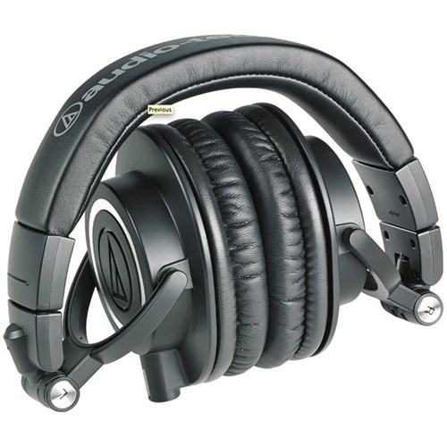 Audio Technica ATH-M50x Studio Headphones (Black)