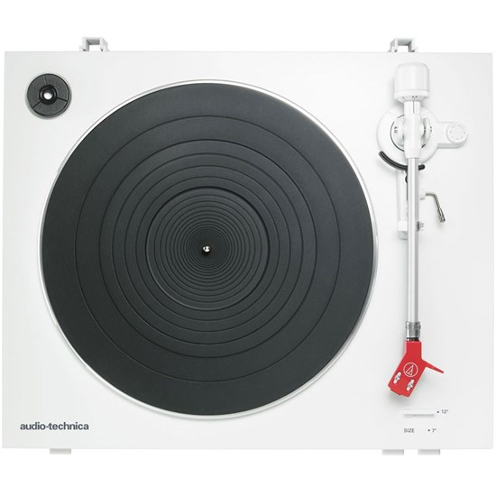 Audio Technica LP3 Fully Auto Belt-Drive Stereo Turntable w/ AT91R Cartridge (White)