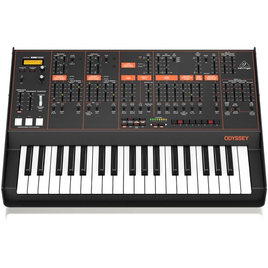 Behringer Odyssey Analog Synth w/ 37 Full-Size Keys, Dual VCOs & 3-Way Multi-Mode VCFs