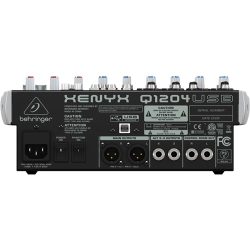 behringer xenyx q1204usb 12 input mic line mixer w usb analogue mixers store dj. Black Bedroom Furniture Sets. Home Design Ideas