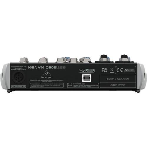 behringer xenyx q802usb 8 input mic line mixer w usb analogue mixers store dj. Black Bedroom Furniture Sets. Home Design Ideas