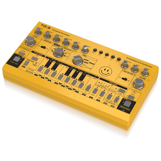 Behringer TD3 Analog Bass Line Synth w/ VCO, VCF, 16-Step Sequencer (Yellow)