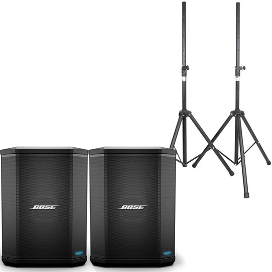 Bose S1 Pro Pack w/ Pair of Speakers & Speaker Stands (S1 Pro Batteries Included)