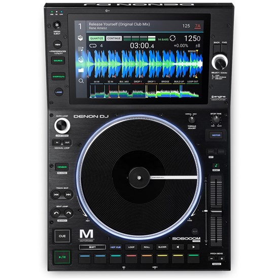 "Denon SC6000M Prime Pro DJ Media Player w/ 8.5"" Motorised Platter & 10.1"" Touchscreen"