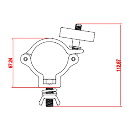 Event Lighting CLAMPP50L Aluminium Pipe Clamp for 48-51mm Tube (SWL: 75kg)