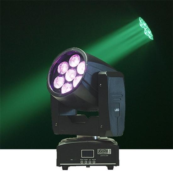 Event Lighting LM7X12W 7x12W RGBW Zoom Moving Head Wash