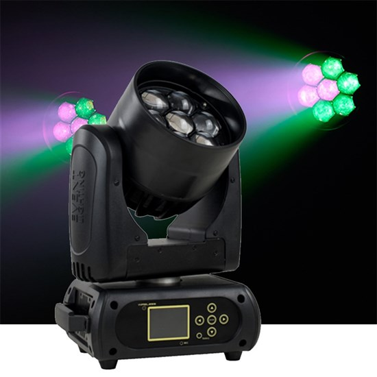 Event Lighting M7W15RGBW LED Pixel Control Moving Head Zoom Wash 7 x 15W RGBW