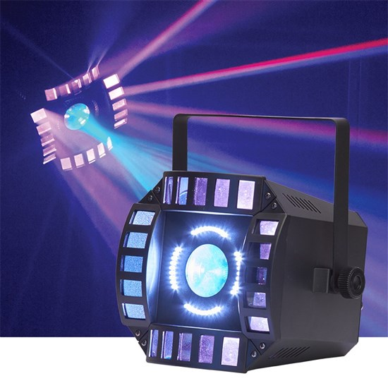 Event Lighting Orbit 3-in-1 LED Matrix, LED Multi Beam & White LED Strobe Effect Light