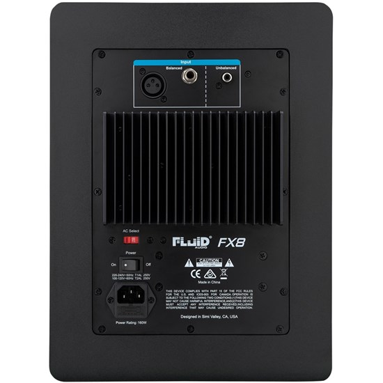 "Fluid Audio FX8 Fader Series 8"" Studio Monitors (Pair)"