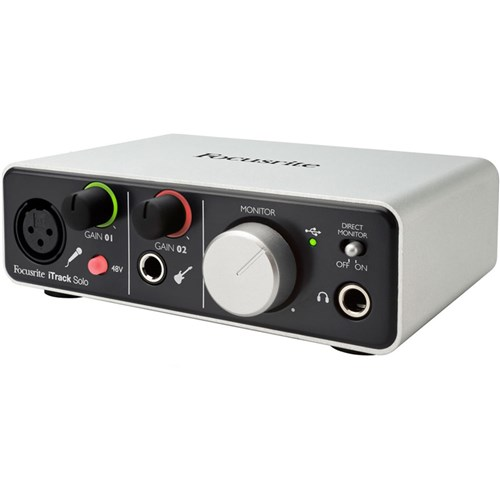 focusrite itrack solo audio interface for ipad mac pc usb audio interfaces store dj. Black Bedroom Furniture Sets. Home Design Ideas